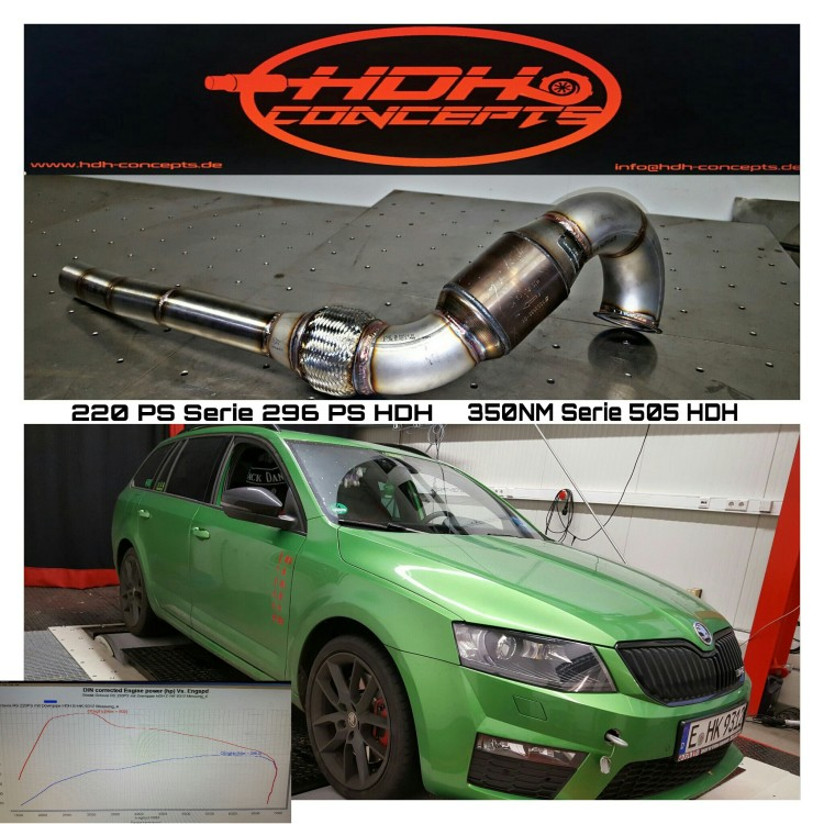 skoda octavia rs 3 5 zoll downpipe mit hjs euro 5. Black Bedroom Furniture Sets. Home Design Ideas